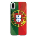 TPU0IPHONEXDRAPPORTUGAL - Coque souple pour Apple iPhone X avec impression Motifs drapeau du Portugal