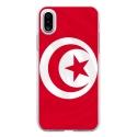 TPU0IPHONEXDRAPTUNISIE - Coque souple pour Apple iPhone X avec impression Motifs drapeau de la Tunisie