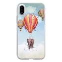 TPU0IPHONEXELEPHANT - Coque souple pour Apple iPhone X avec impression Motifs éléphant dans les nuages