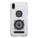 TPU0IPHONEXENCEINTE - Coque souple pour Apple iPhone X avec impression Motifs enceinte