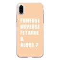 TPU0IPHONEXFUMEUSEBEIGE - Coque souple pour Apple iPhone X avec impression Motifs fumeuse et alors beige