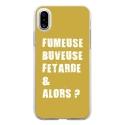 TPU0IPHONEXFUMEUSEOR - Coque souple pour Apple iPhone X avec impression Motifs fumeuse et alors or