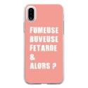 TPU0IPHONEXFUMEUSEROSE - Coque souple pour Apple iPhone X avec impression Motifs fumeuse et alors rose