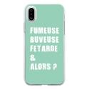 TPU0IPHONEXFUMEUSETURQUOISE - Coque souple pour Apple iPhone X avec impression Motifs fumeuse et alors turquoise