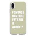 TPU0IPHONEXFUMEUSEVERT - Coque souple pour Apple iPhone X avec impression Motifs fumeuse et alors vert