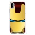 TPU0IPHONEXIRONMASQUE - Coque souple pour Apple iPhone X avec impression Motifs masque Iron