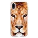 TPU0IPHONEXLION - Coque souple pour Apple iPhone X avec impression Motifs tête de lion