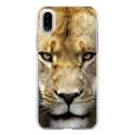 TPU0IPHONEXLIONNE - Coque souple pour Apple iPhone X avec impression Motifs tête de lionne