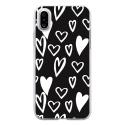 TPU0IPHONEXLOVE2 - Coque souple pour Apple iPhone X avec impression Motifs Love coeur 2