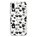 TPU0IPHONEXLOVE3 - Coque souple pour Apple iPhone X avec impression Motifs Love coeur 3