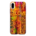 TPU0IPHONEXLOVESPRING - Coque souple pour Apple iPhone X avec impression Motifs Love Spring