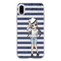 TPU0IPHONEXMANGAMARINE - Coque souple pour Apple iPhone X avec impression Motifs manga fille marin