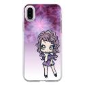 TPU0IPHONEXMANGAVIOLETTA - Coque souple pour Apple iPhone X avec impression Motifs manga fille violetta