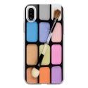 TPU0IPHONEXMAQUILLAGE - Coque souple pour Apple iPhone X avec impression Motifs palette de maquillage