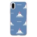 TPU0IPHONEXMARIN1 - Coque souple pour Apple iPhone X avec impression Motifs thème marin 1