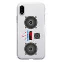 TPU0IPHONEXMP3 - Coque souple pour Apple iPhone X avec impression Motifs lecteur MP3