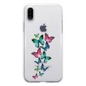 TPU0IPHONEXPAPILLONS - Coque souple pour Apple iPhone X avec impression Motifs papillons colorés