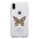 TPU0IPHONEXPAPILLONSEUL - Coque souple pour Apple iPhone X avec impression Motifs papillon psychédélique