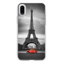 TPU0IPHONEXPARIS2CV - Coque souple pour Apple iPhone X avec impression Motifs Paris et 2CV rouge