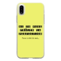 TPU0IPHONEXPERFECTIONJAUNE - Coque souple pour Apple iPhone X avec impression Motifs frôler la perfection jaune