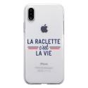 TPU0IPHONEXRACLETTEVIE - Coque souple pour Apple iPhone X avec impression Motifs la raclette c'est la vie