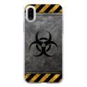 TPU0IPHONEXRADIOACTIF - Coque souple pour Apple iPhone X avec impression Motifs radioactif