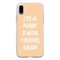 TPU0IPHONEXRAISONBEIGE - Coque souple pour Apple iPhone X avec impression Motifs marre d'avoir raison beige