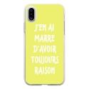 TPU0IPHONEXRAISONJAUNE - Coque souple pour Apple iPhone X avec impression Motifs marre d'avoir raison jaune