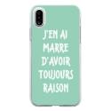 TPU0IPHONEXRAISONTURQUOISE - Coque souple pour Apple iPhone X avec impression Motifs marre d'avoir raison turquoise