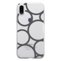 TPU0IPHONEXRONDSGRIS - Coque souple pour Apple iPhone X avec impression Motifs ronds gris