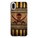 TPU0IPHONEXSABREPIRATE - Coque souple pour Apple iPhone X avec impression Motifs sabre et tête de mort pirate