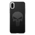 TPU0IPHONEXSKULLCARBONE - Coque souple pour Apple iPhone X avec impression Motifs tête de mort sur fond carbone