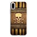 TPU0IPHONEXSKULLPIRATE - Coque souple pour Apple iPhone X avec impression Motifs pirate et tête de mort