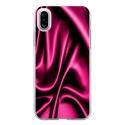 TPU0IPHONEXSOIEROSE - Coque souple pour Apple iPhone X avec impression Motifs soie drapée rose