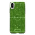 TPU0IPHONEXTERRAINFOOT - Coque souple pour Apple iPhone X avec impression Motifs terrain de football