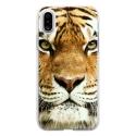TPU0IPHONEXTIGRE - Coque souple pour Apple iPhone X avec impression Motifs tête de tigre