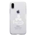 TPU0IPHONEXTRISKEL - Coque souple pour Apple iPhone X avec impression Motifs Triskel Celte blanc