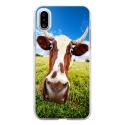 TPU0IPHONEXVACHE - Coque souple pour Apple iPhone X avec impression Motifs vache