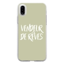 TPU0IPHONEXVENDREVEVERT - Coque souple pour Apple iPhone X avec impression Motifs vendeur de rêves vert