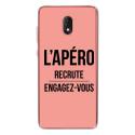 TPU0LENNY5APEROROSE - Coque souple pour Wiko Lenny 5 avec impression Motifs l'apéro recrute rose