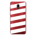 TPU0LENNY5BANDESBLANCHES - Coque souple pour Wiko Lenny 5 avec impression Motifs bandes blanches
