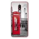 TPU0LENNY5CABINEUK - Coque souple pour Wiko Lenny 5 avec impression Motifs cabine téléphonique UK rouge