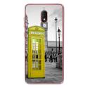 TPU0LENNY5CABINEUKJAUNE - Coque souple pour Wiko Lenny 5 avec impression Motifs cabine téléphonique UK jaune