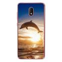 TPU0LENNY5DAUPHIN - Coque souple pour Wiko Lenny 5 avec impression Motifs dauphin