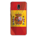 TPU0LENNY5DRAPESPAGNE - Coque souple pour Wiko Lenny 5 avec impression Motifs drapeau de l'Espagne
