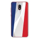 TPU0LENNY5DRAPFRANCE - Coque souple pour Wiko Lenny 5 avec impression Motifs drapeau de la France