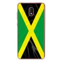 TPU0LENNY5DRAPJAMAIQUE - Coque souple pour Wiko Lenny 5 avec impression Motifs drapeau de la Jamaïque