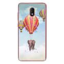 TPU0LENNY5ELEPHANT - Coque souple pour Wiko Lenny 5 avec impression Motifs éléphant dans les nuages