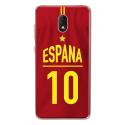 TPU0LENNY5MAILLOTESPAGNE - Coque souple pour Wiko Lenny 5 avec impression Motifs Maillot de Football Espagne