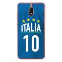 TPU0LENNY5MAILLOTITALIE - Coque souple pour Wiko Lenny 5 avec impression Motifs Maillot de Football Italie